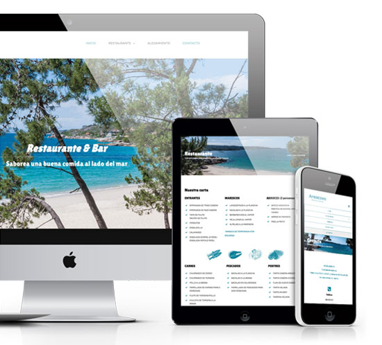 Diseño de página web restaurante